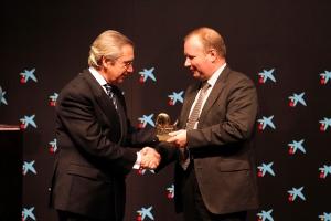 José Isaías Rodríguez (CEOE) y Eduardo Salsamendi (ACN)