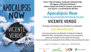 Invitación presentación libro Apocaliipsis Now