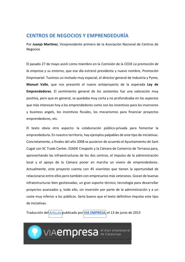 CENTROS DE NEGOCIOS Y EMPRENDEDURÍA_VIA EMPRESA