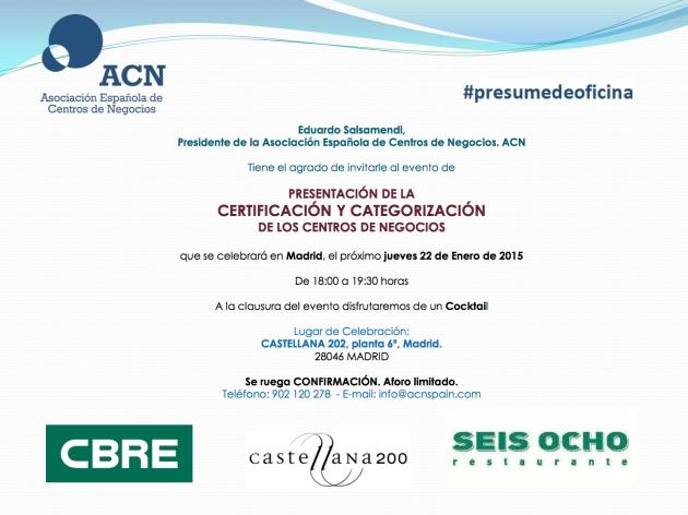 Invitación Evento Certificación 2015